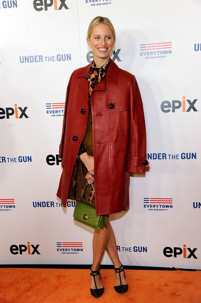 Karolina Kurkova attends the premiere of Under the Gun