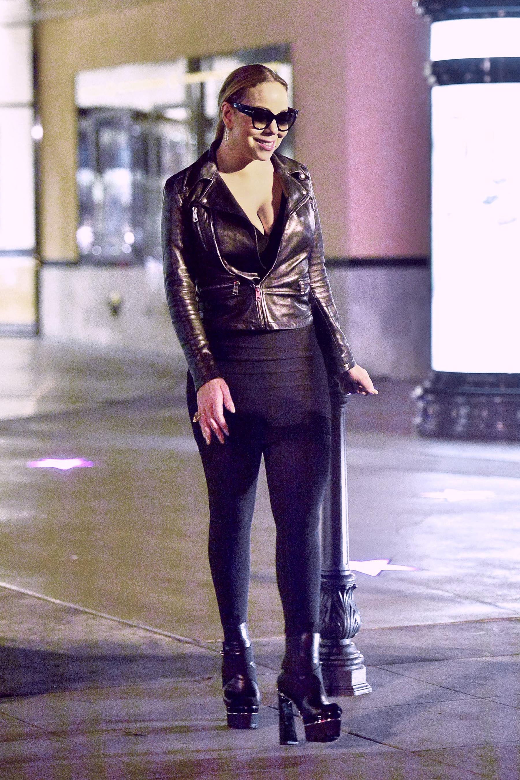 Mariah Carey at the movies in LA