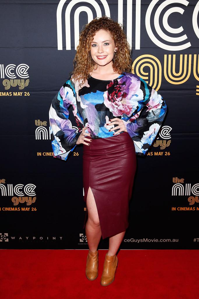 Gracie Gilbert arrives ahead of The Nice Guys Sydney Premiere
