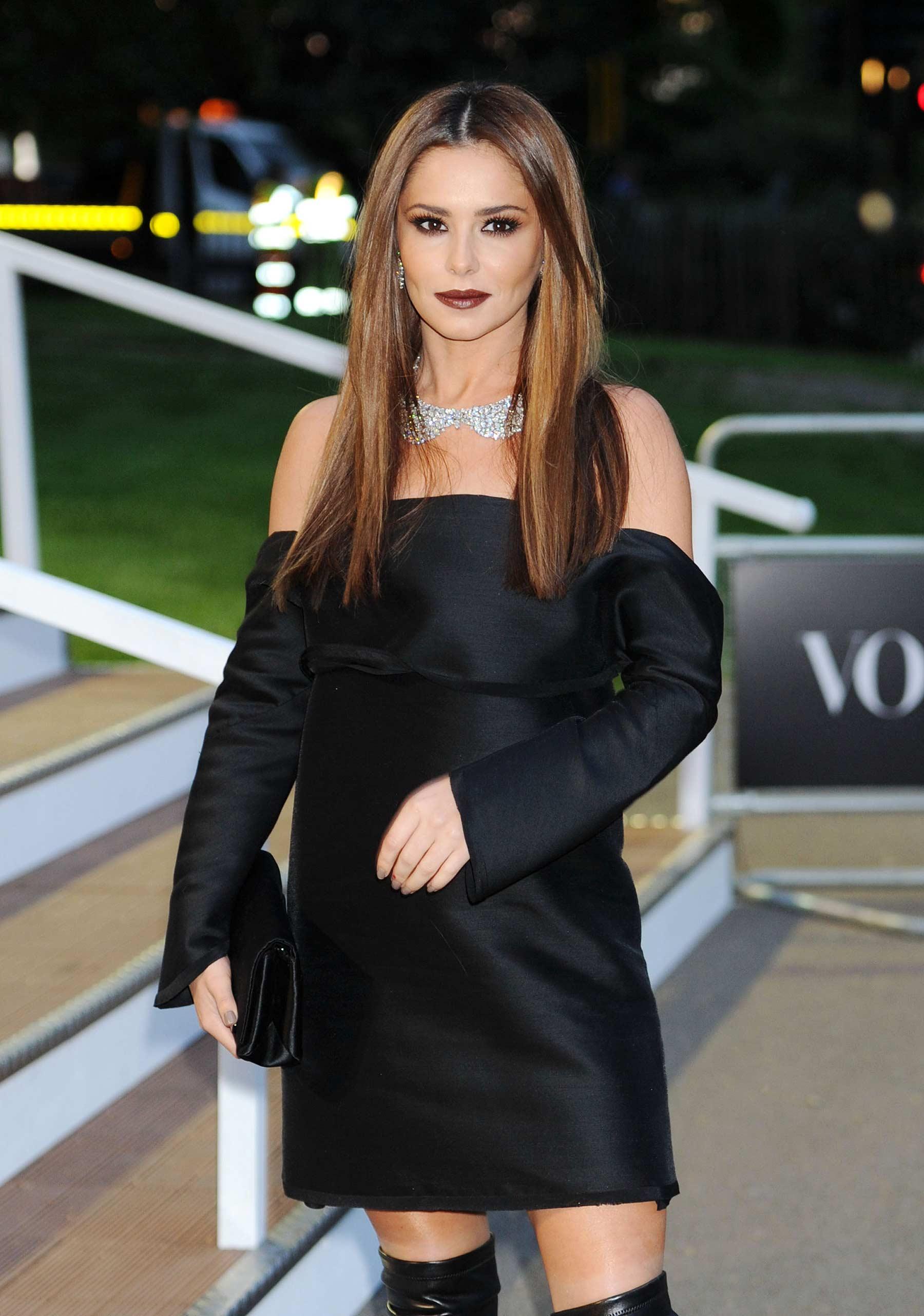 Cheryl Fernandez Versini attends British Vogue 100th Anniversary Gala
