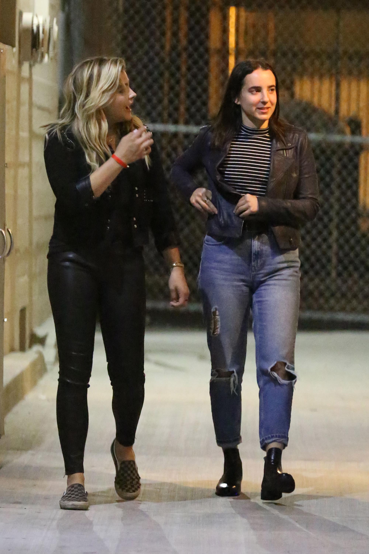 Chloe Moretz leaving Warwick nightclub