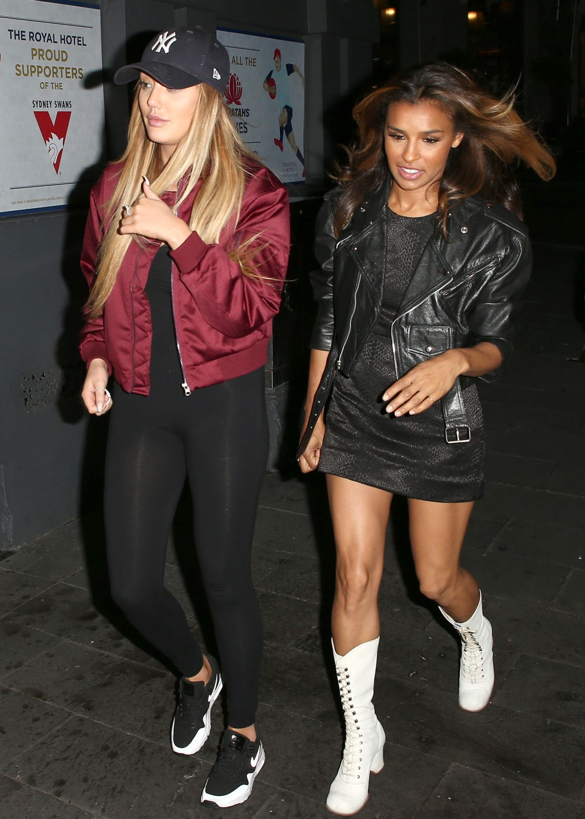 Melody Thornton night out in Sydney