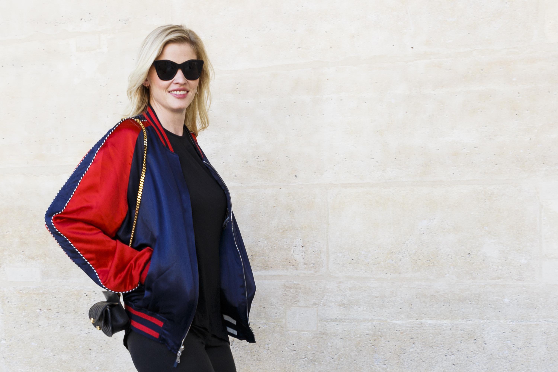 Lara Stone attends the Louis Vuitton Menswear SpringSummer 2017 show