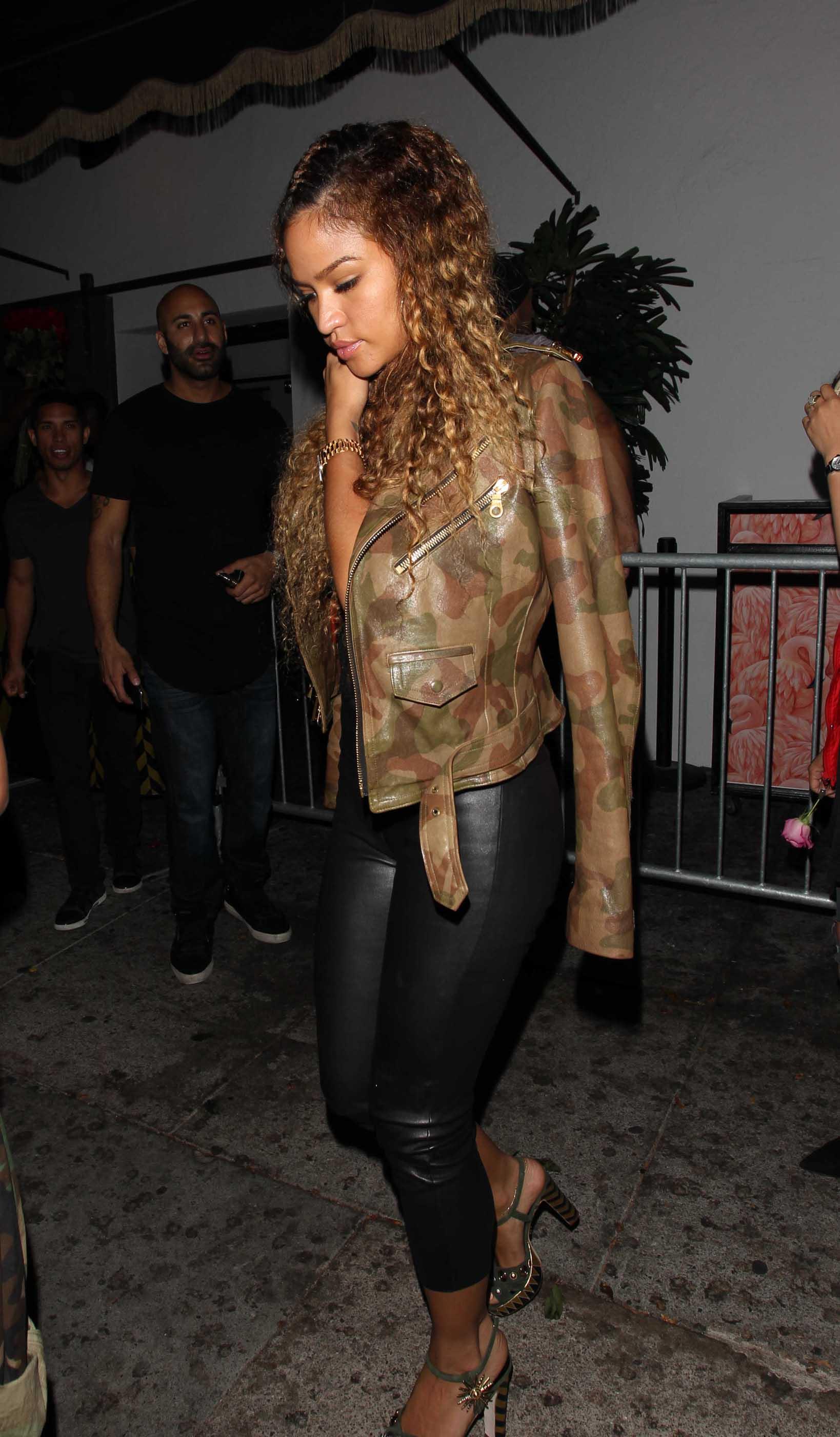 Cassie Ventura leaving the Warwick Nightclub
