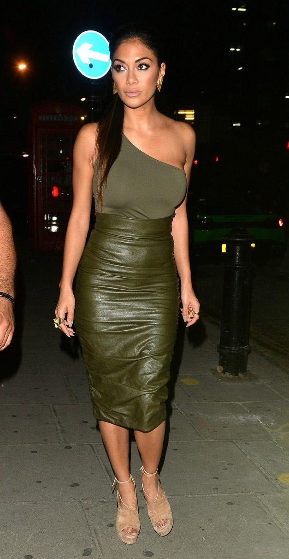 Nicole Scherzinger out in London