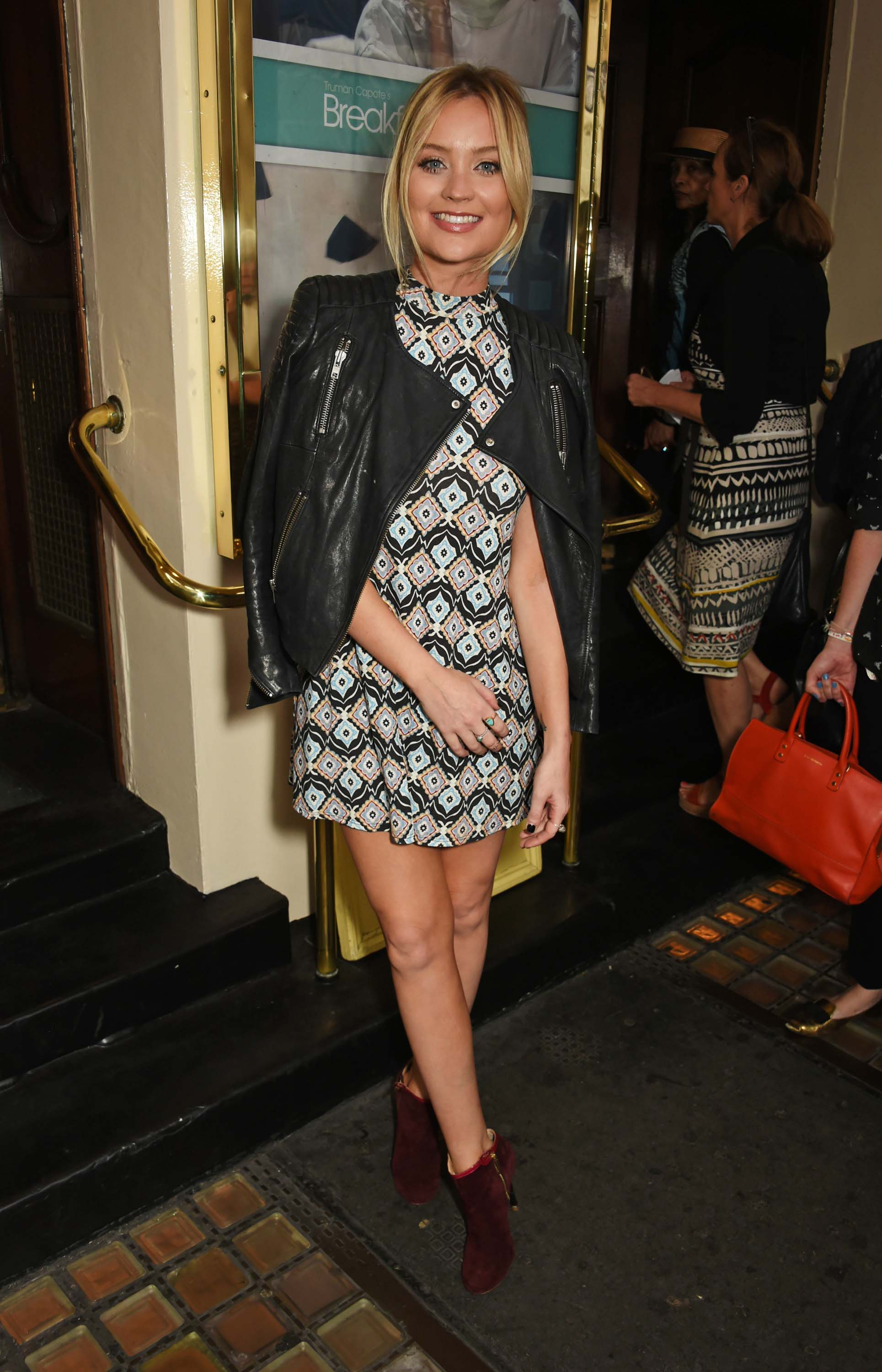 Laura Whitmore attends Breakfast at Tiffany press night