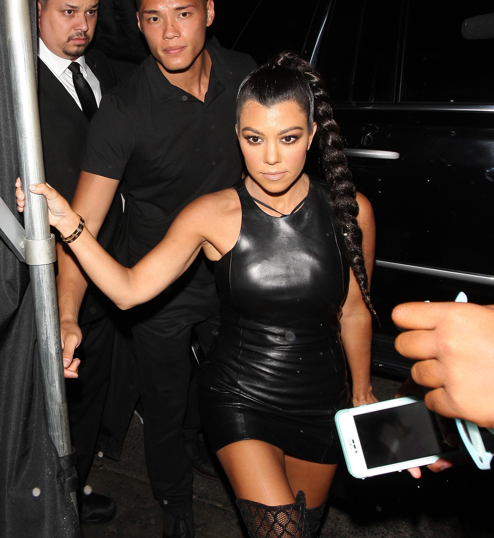 Kourtney Kardashian out to celebrate her sister birthday