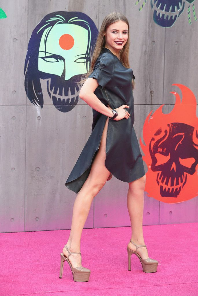 Xenia Tchoumi attends the European Premiere of Suicide Squad