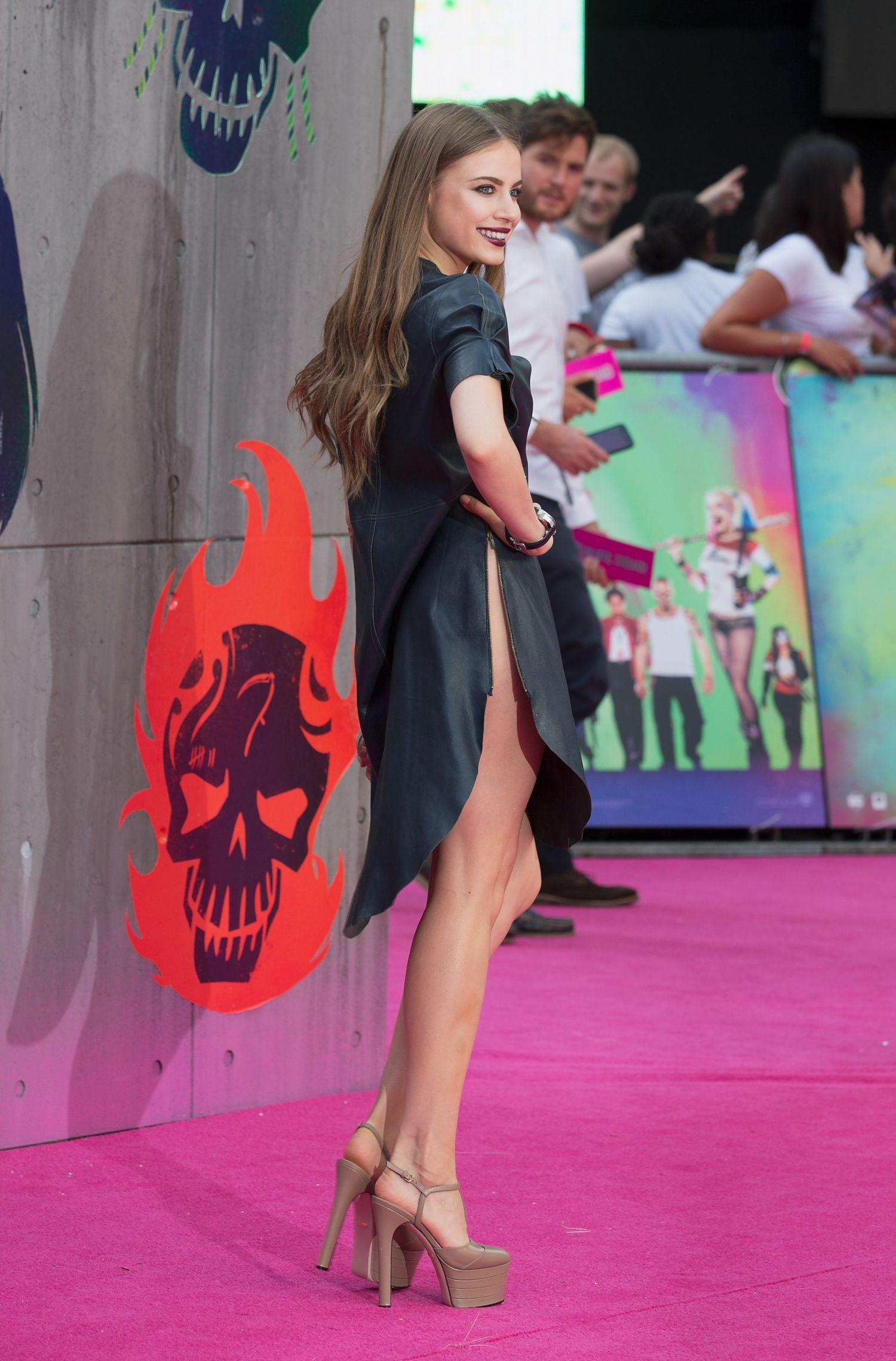 Xenia Tchoumi attends the European Premiere of Suicide Squad