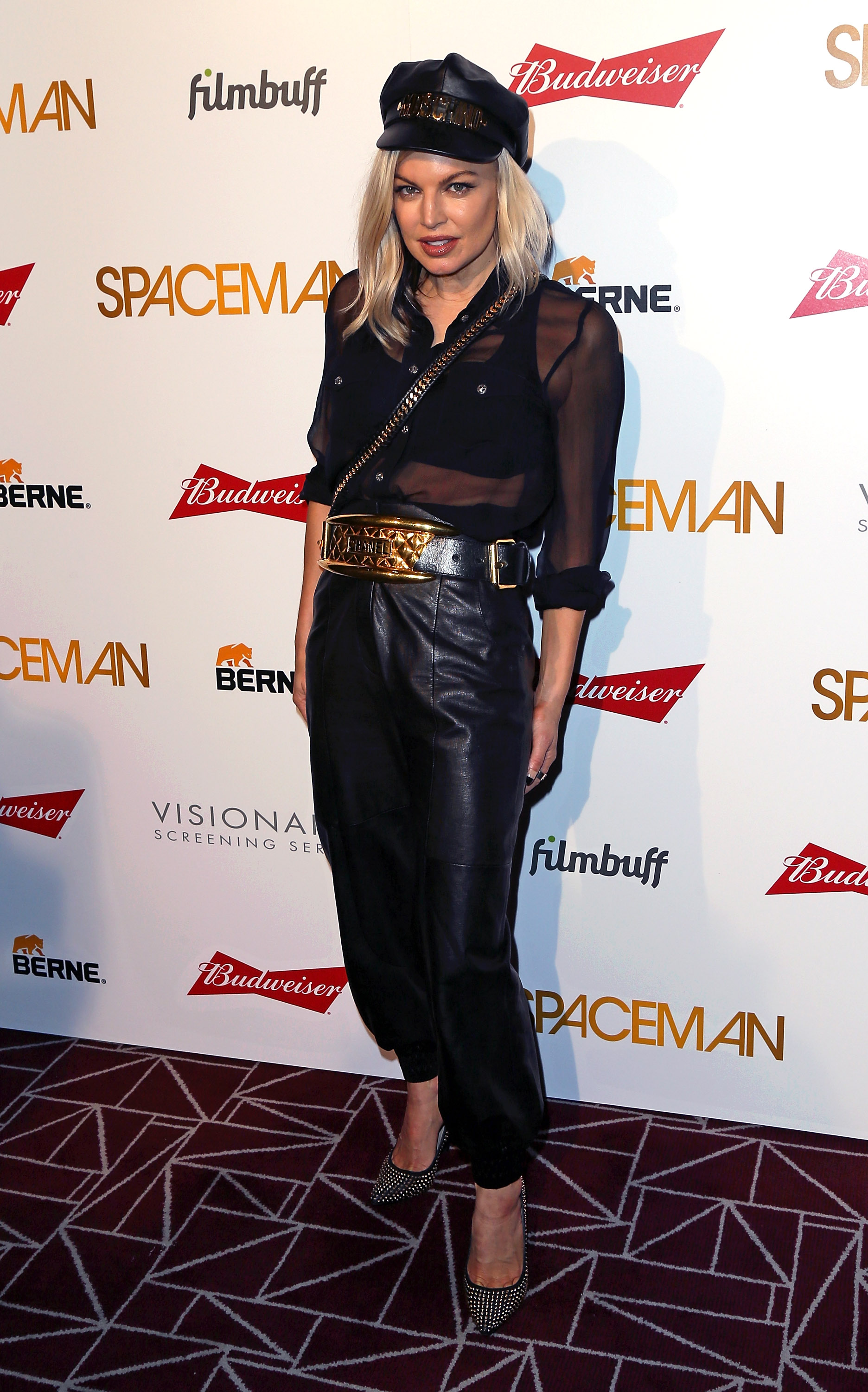 Fergie attends the Los Angeles premiere of Spaceman