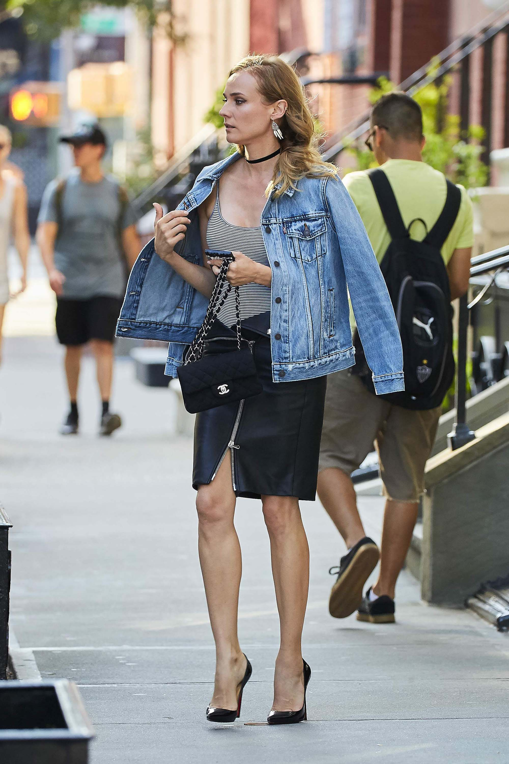 Diane Kruger seen out in Soho