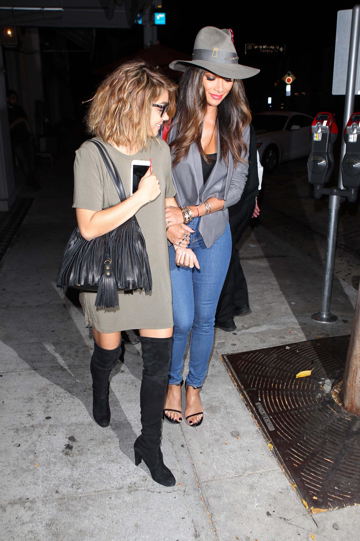Nicole Scherzinger & Sarah Hyland at Craigs Restaurant