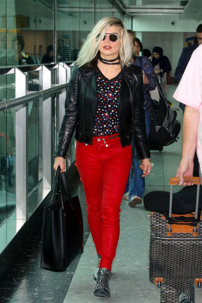 Fergie at Heathrow Airport in London