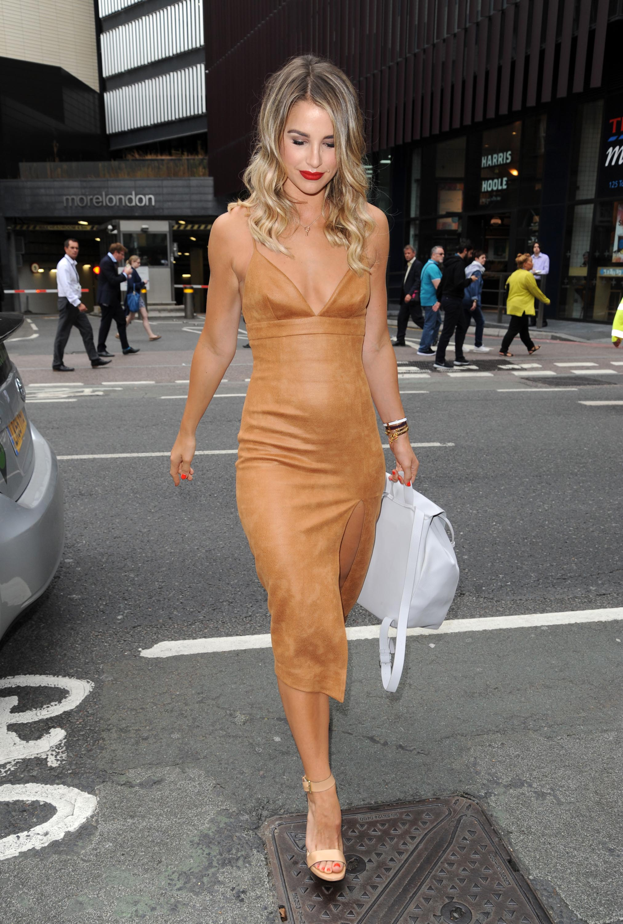 Vogue Williams attends The Walkers Crisps Sarnie Club Launch