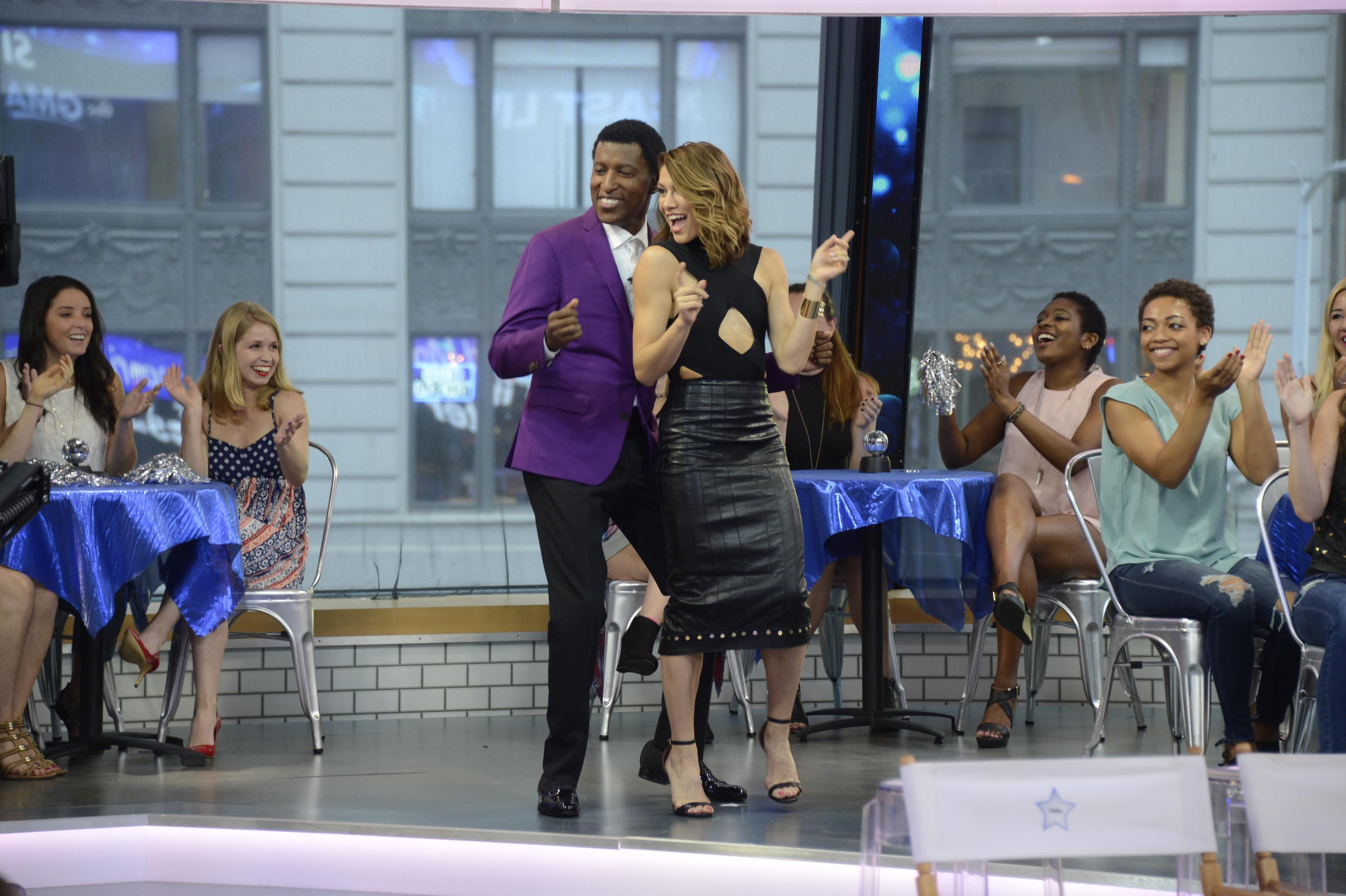 Allison Holker poses as Season 23 of Dancing With The Stars