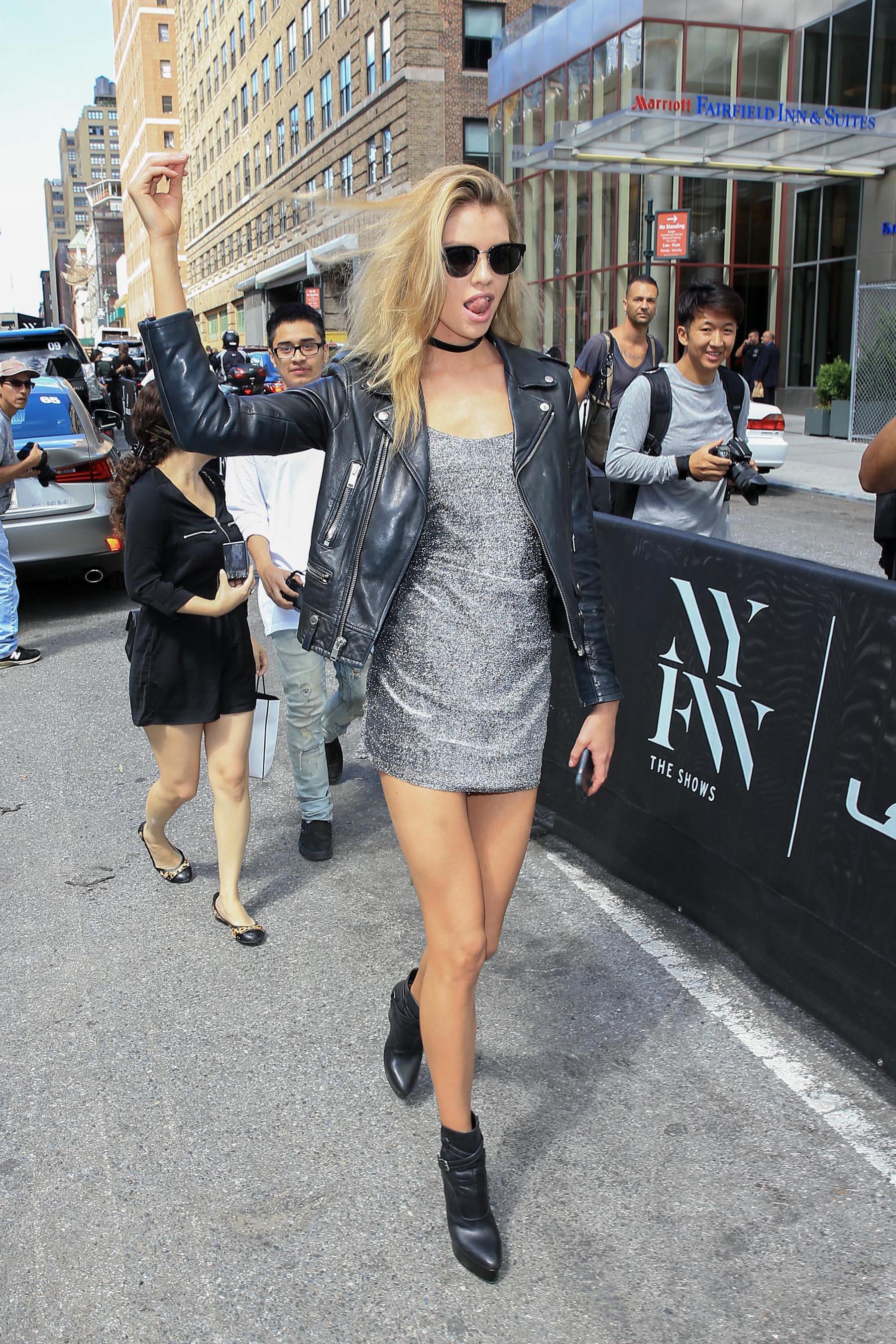 Stella Maxwell attends New York Fashion Week