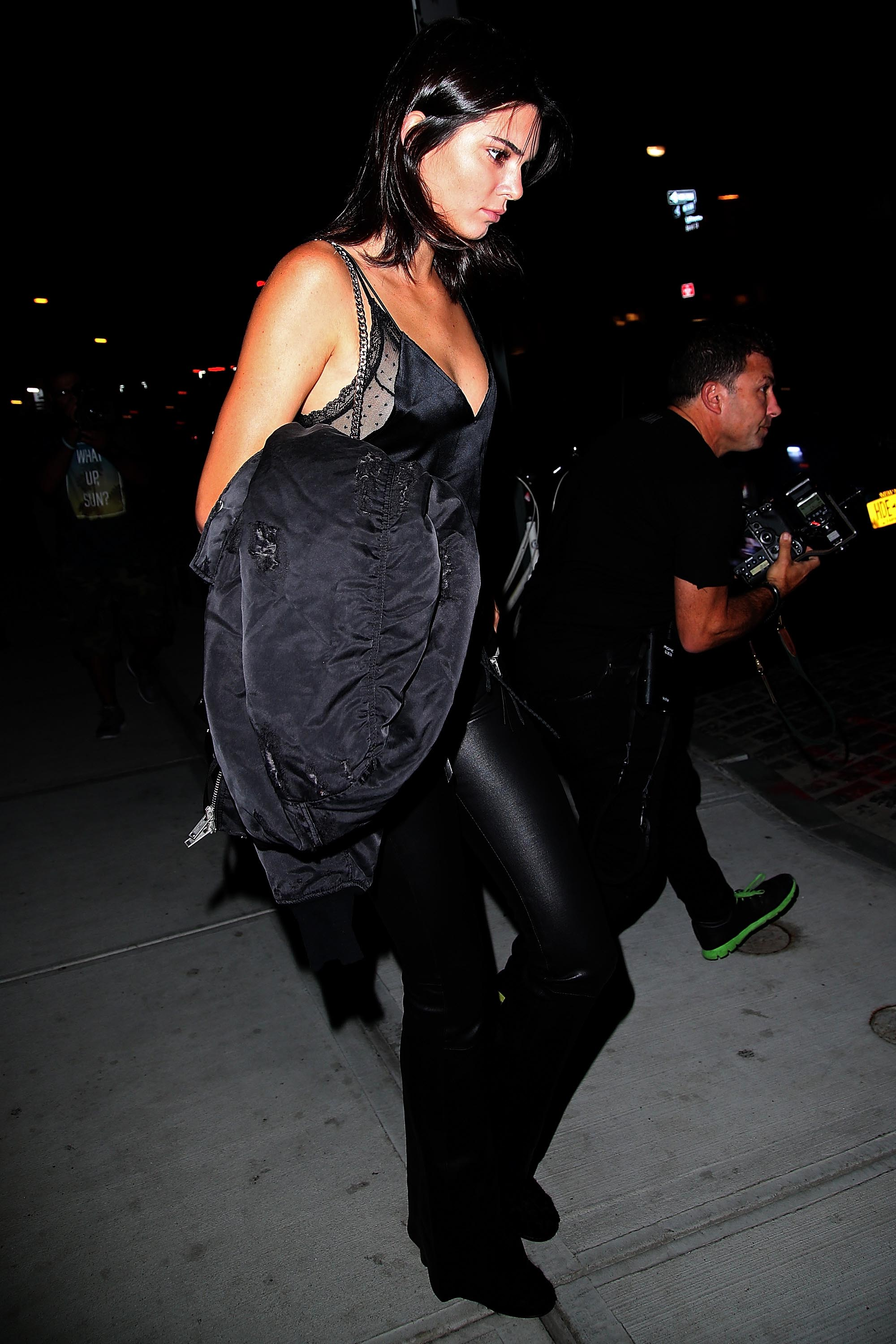 Kendall Jenner Night Time Out Fashion - Dinner at Mr. Chow