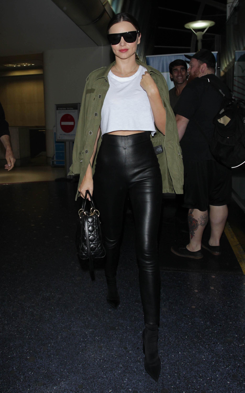 Miranda Kerr is seen at JFK