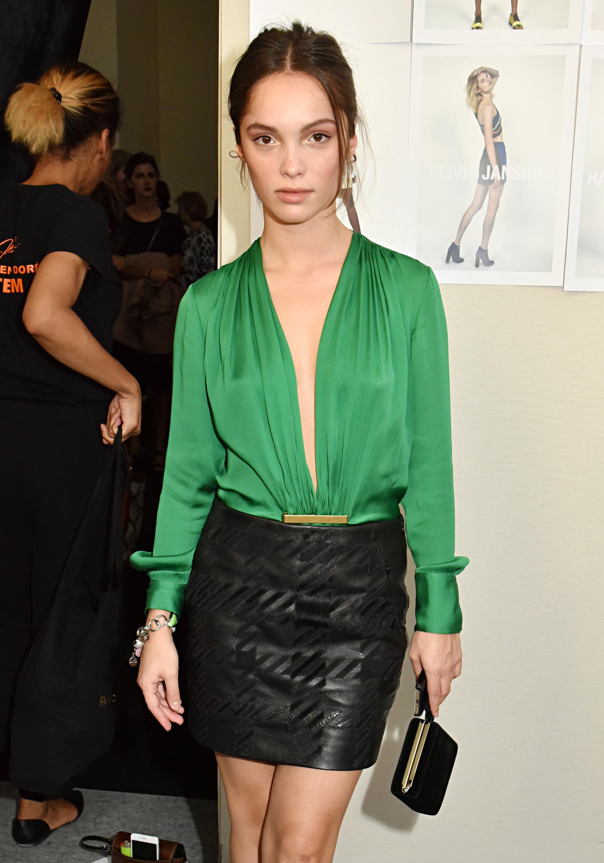Lola Le Lann attends the Barbara Bui show - Leather