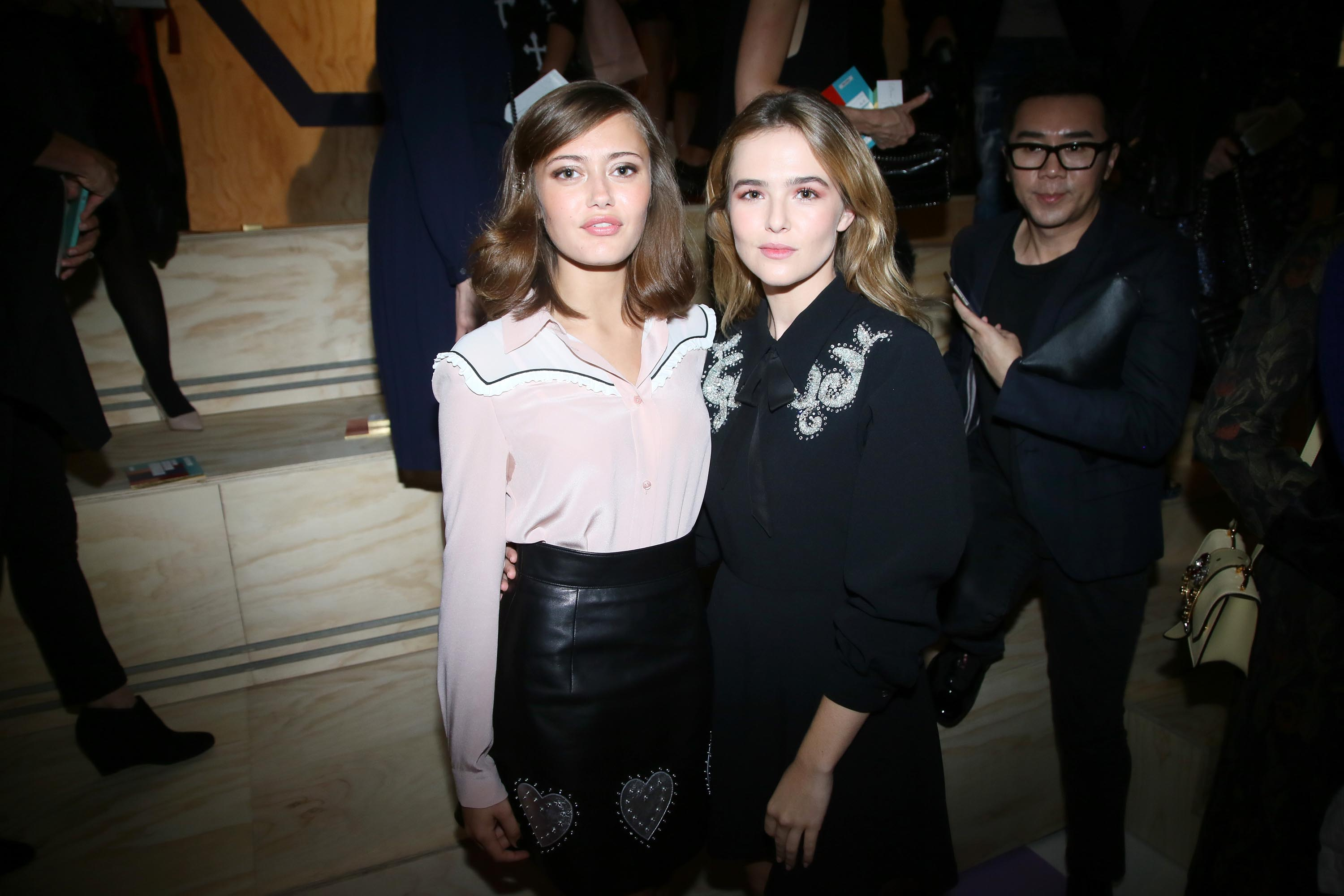 Ella Purnell attends the Miu Miu show