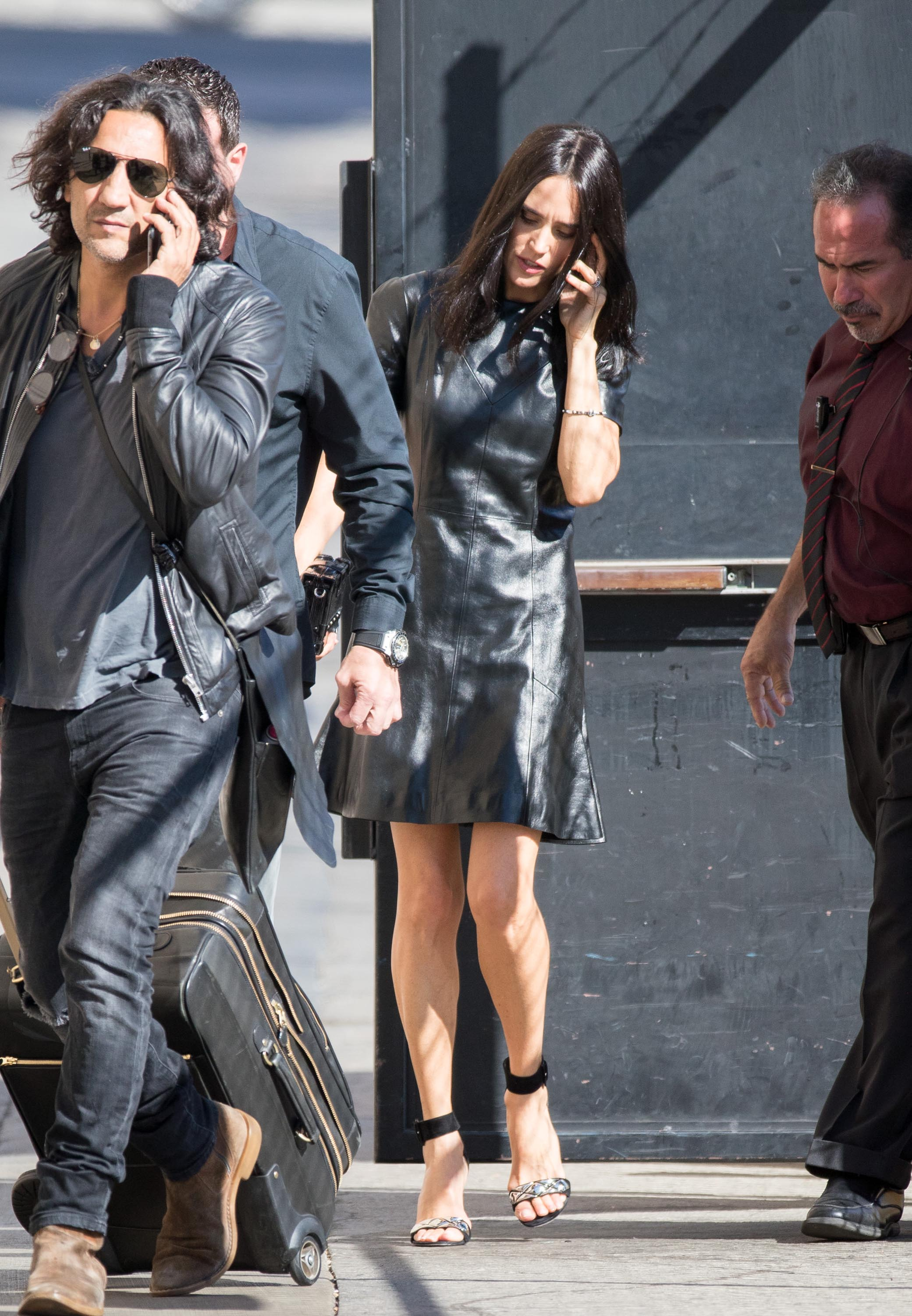 Jennifer Connelly is seen at Jimmy Kimmel Live