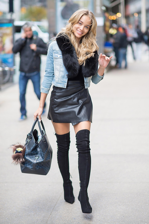 Jasmine Sanders attends the 2016 Victoria's Secret Fashion Show