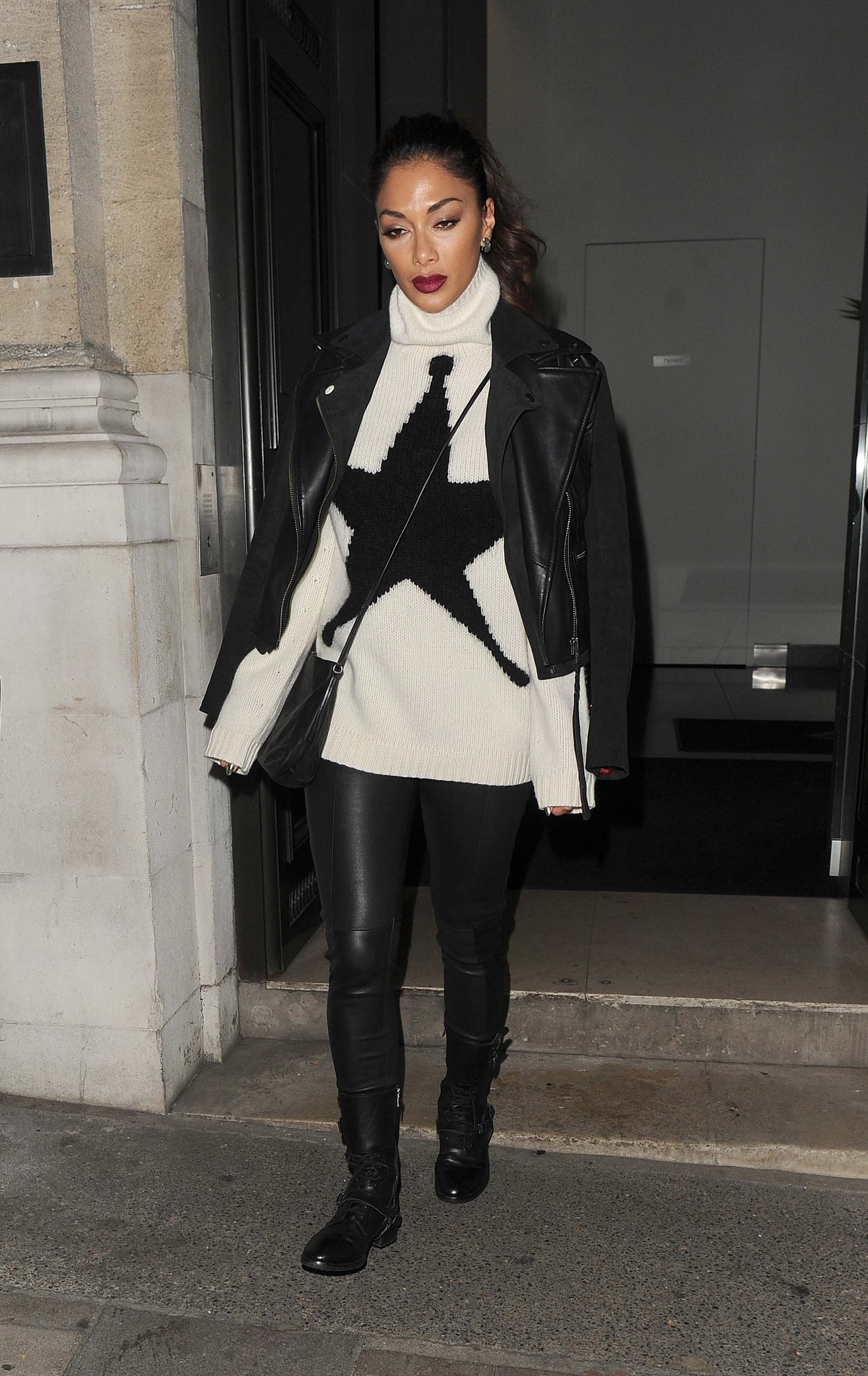 Nicole Scherzinger leaving the Groucho club