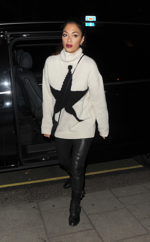 Nicole Scherzinger leaving the Groucho club