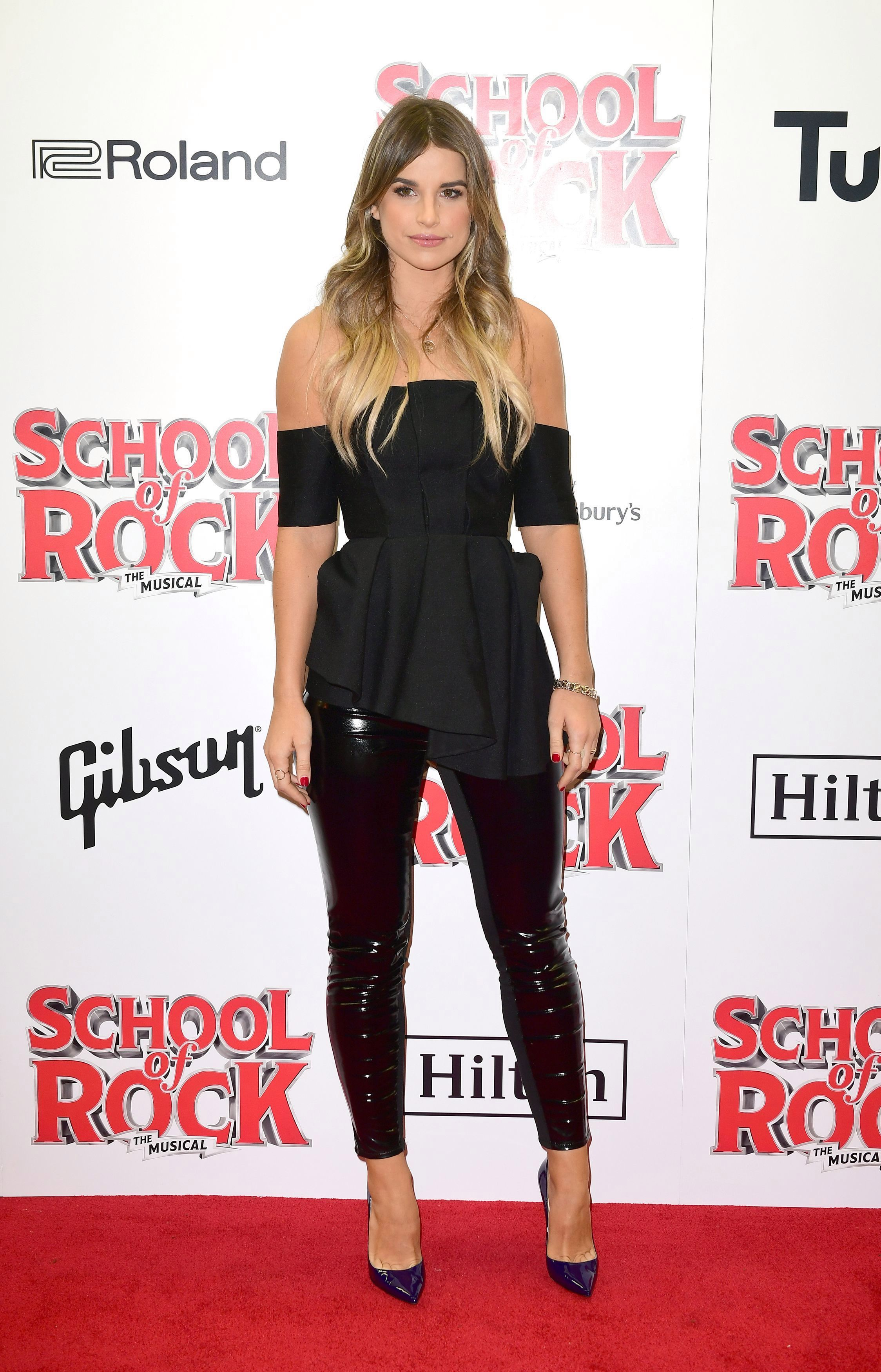 Vogue Williams attends the opening night of 'School Of Rock The Musical'