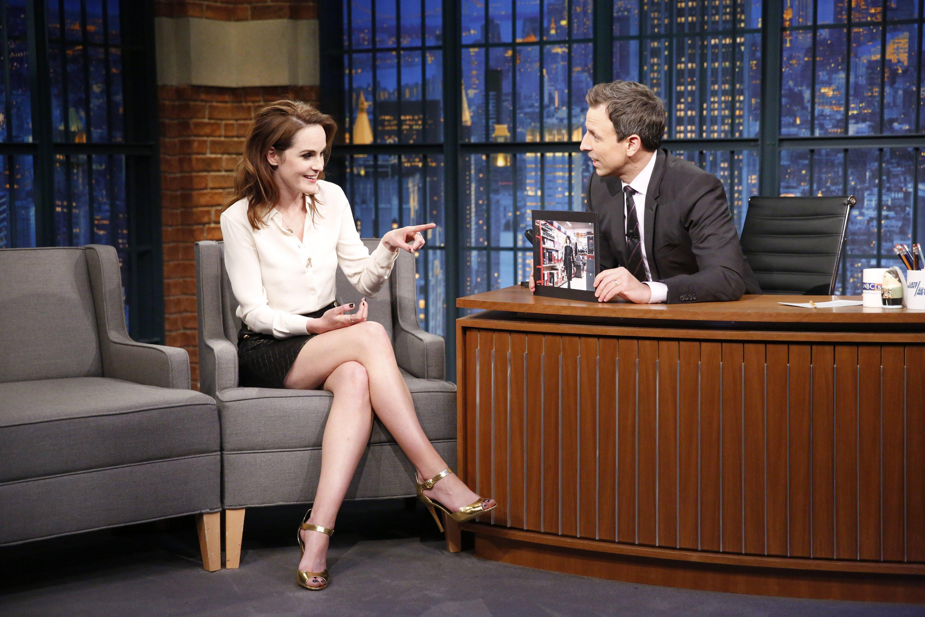 Michelle Dockery at The Late Show with Seth Meyers