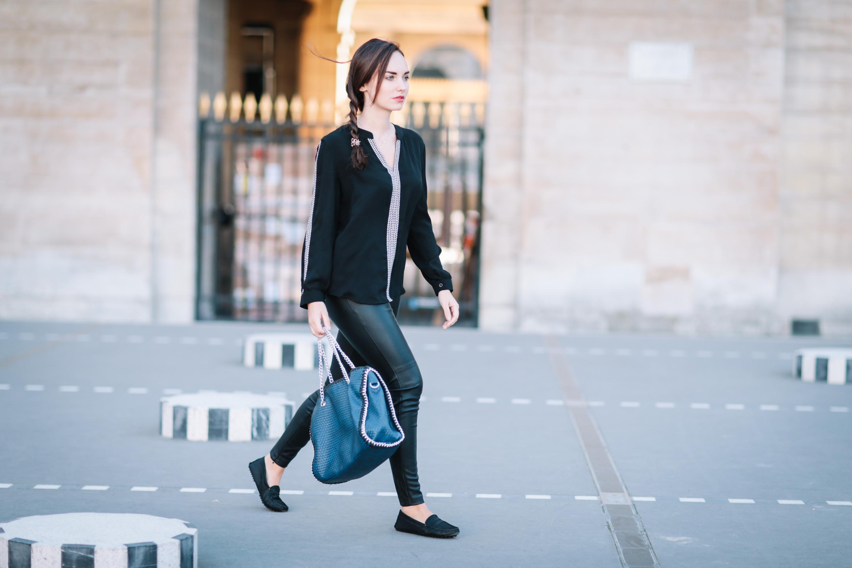 Ophelie Duvillard street style in Paris