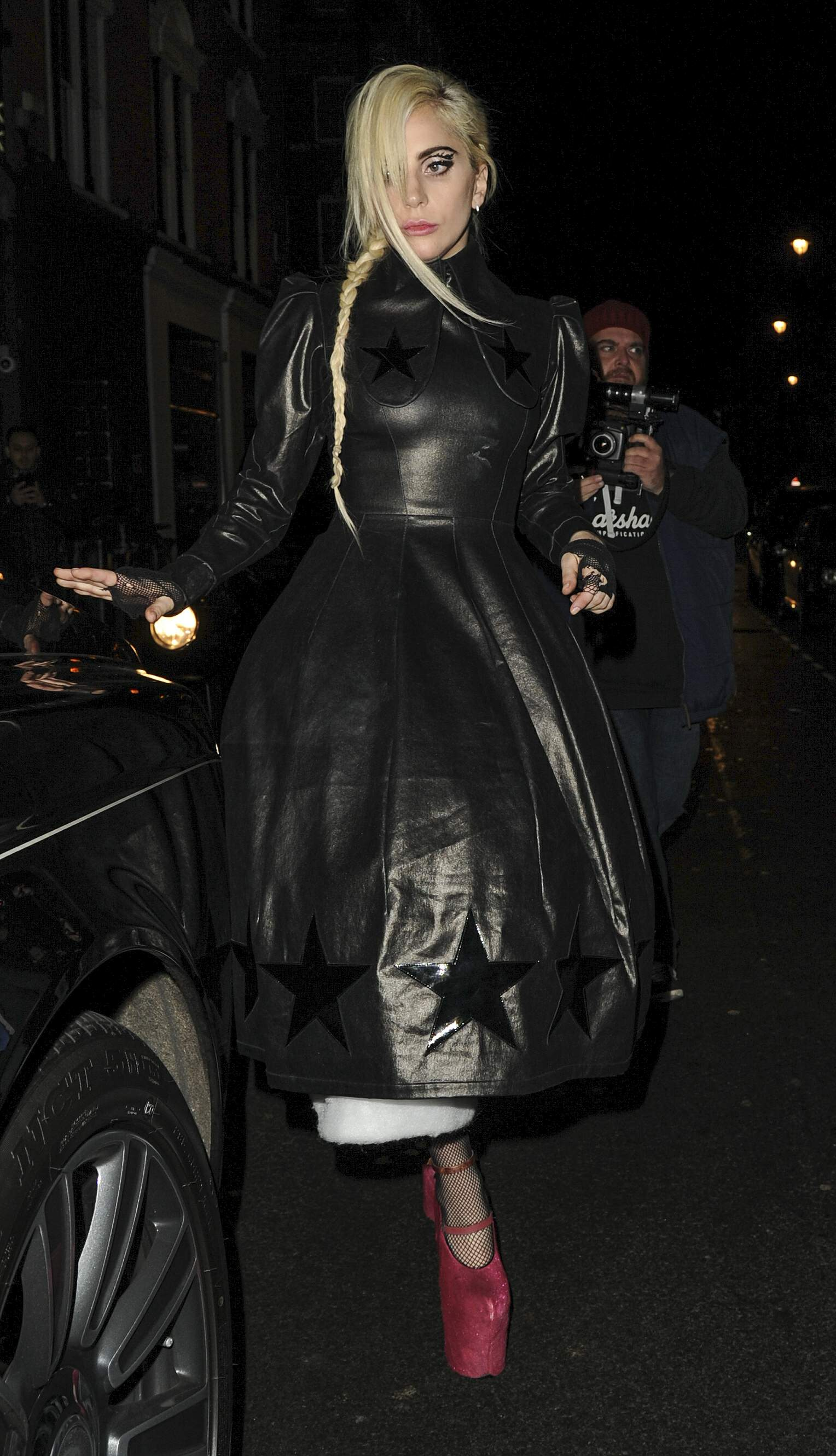 Lady Gaga leaving Groucho club