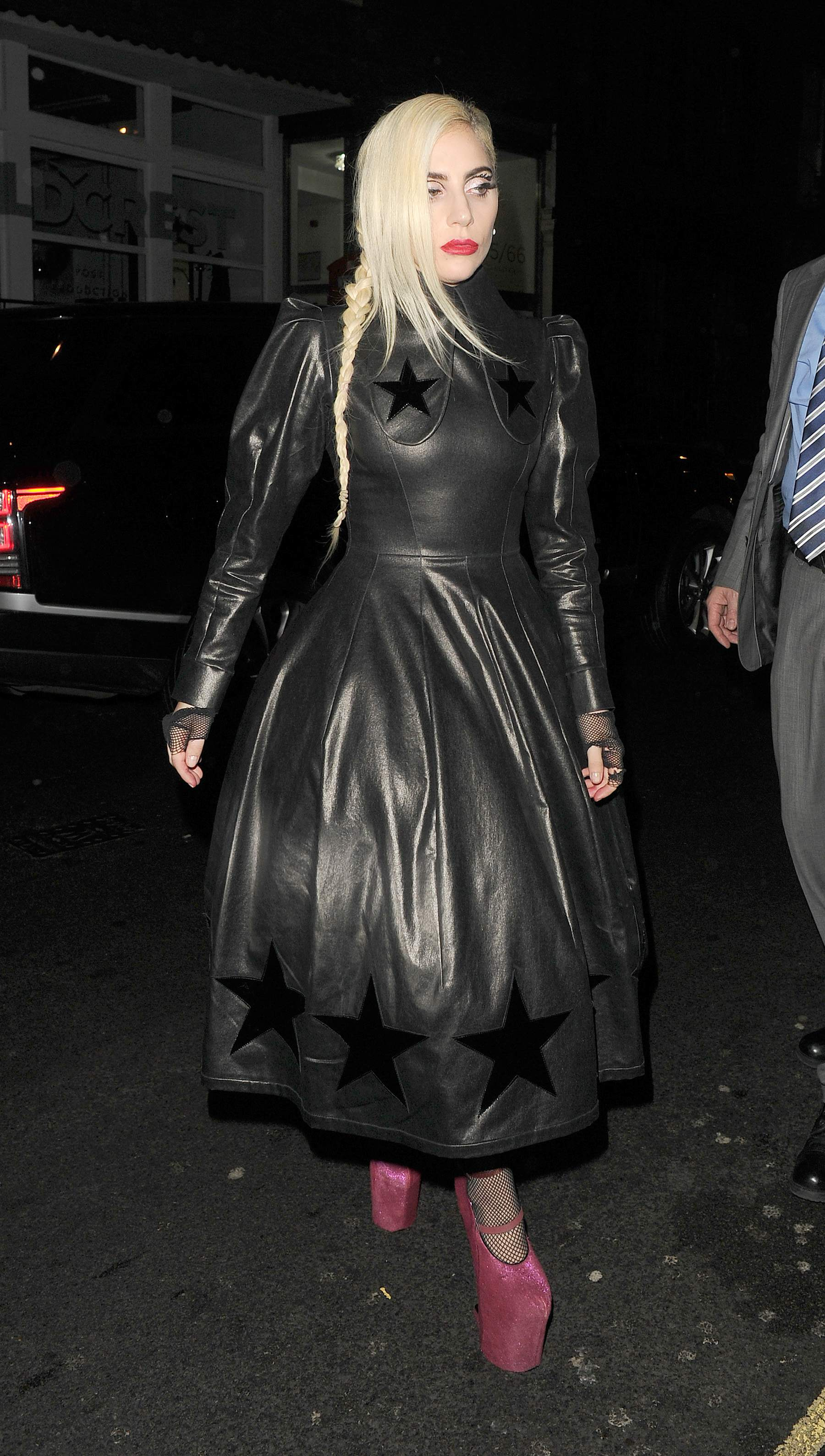 Lady Gaga leaving Groucho club
