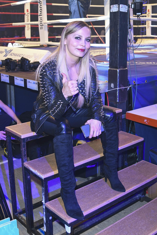 Regina Halmich attends Sat 1 Ran Lightning 2016