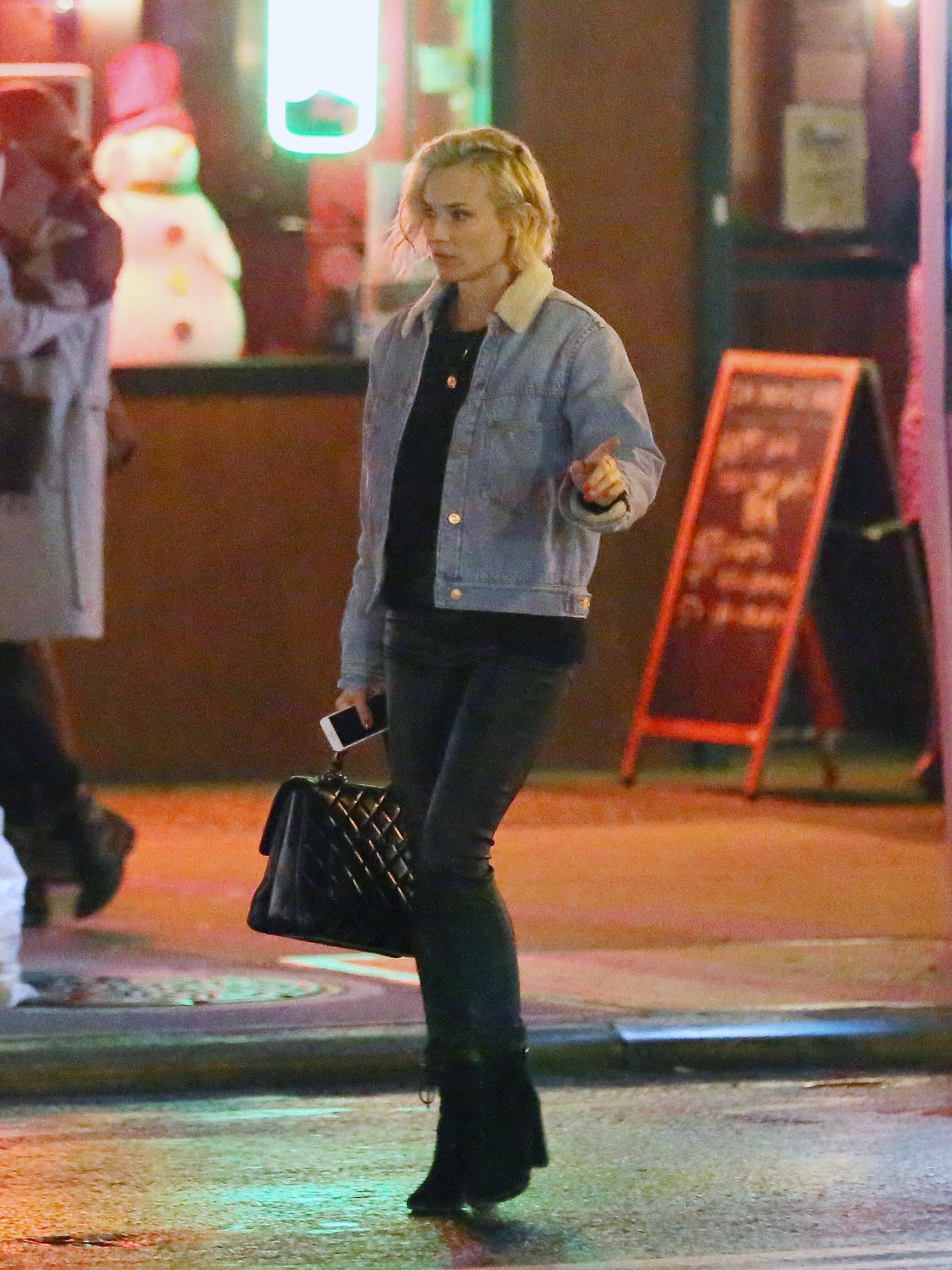 Diane Kruger out and about in the East Village