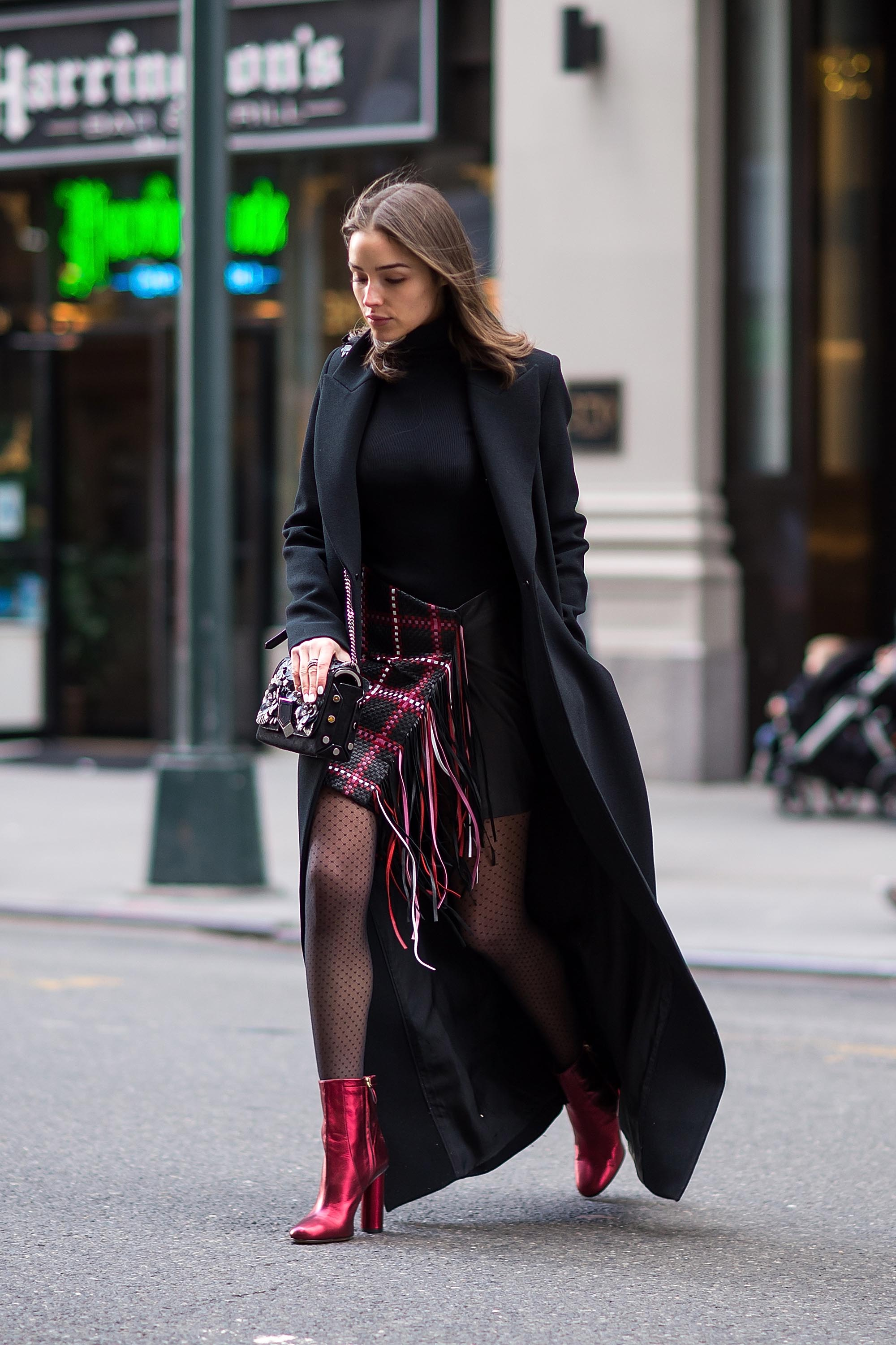 Olivia Culpo is seen in Midtown NYC