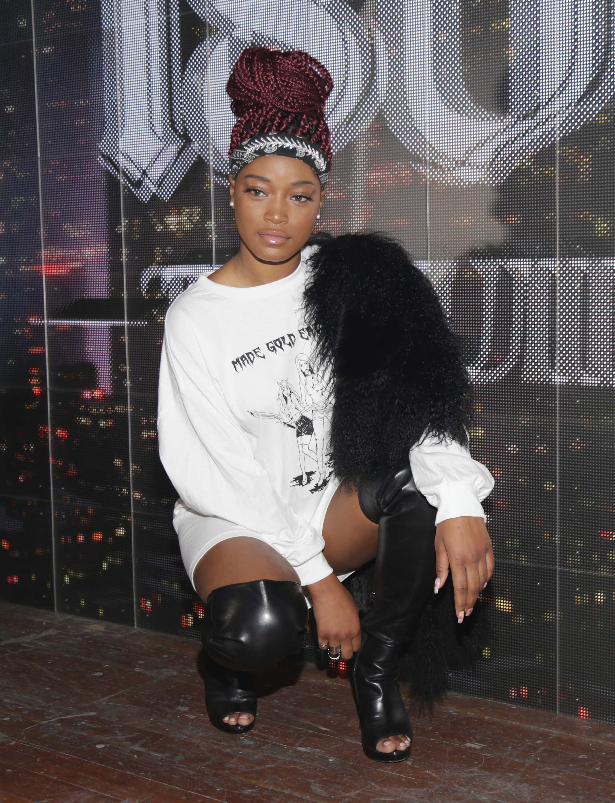 Keke Palmer & Andrea Hamilton attend Rae Sremmurd's birthday party