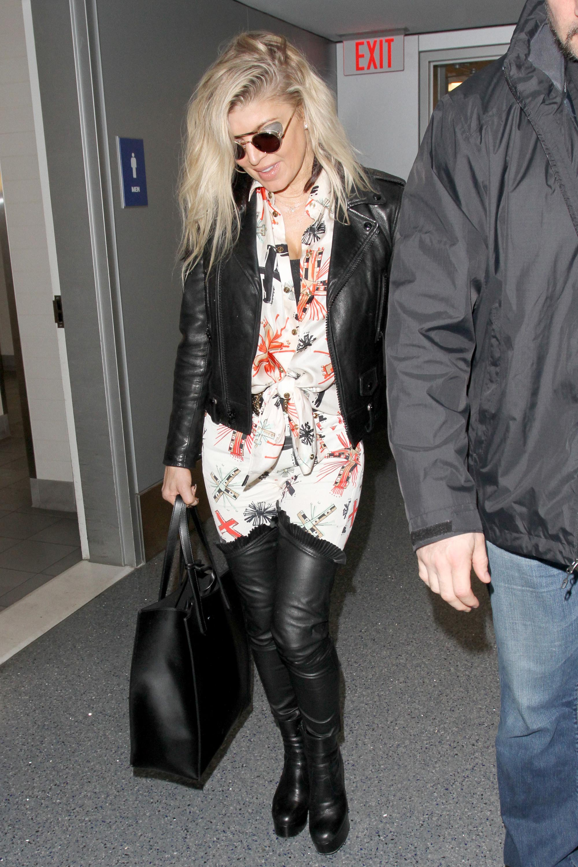 Fergie seen at LAX