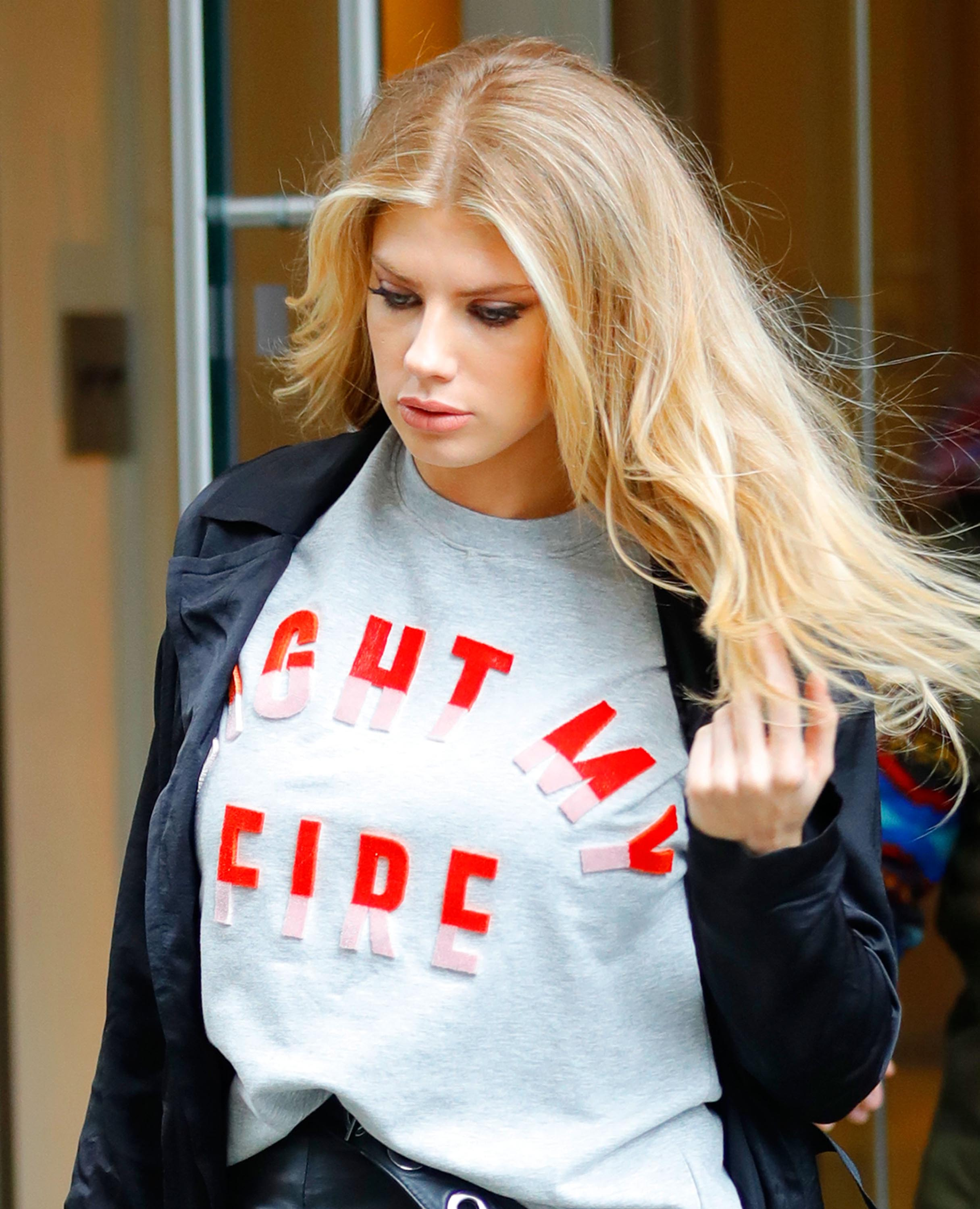 Charlotte McKinney out in NYC