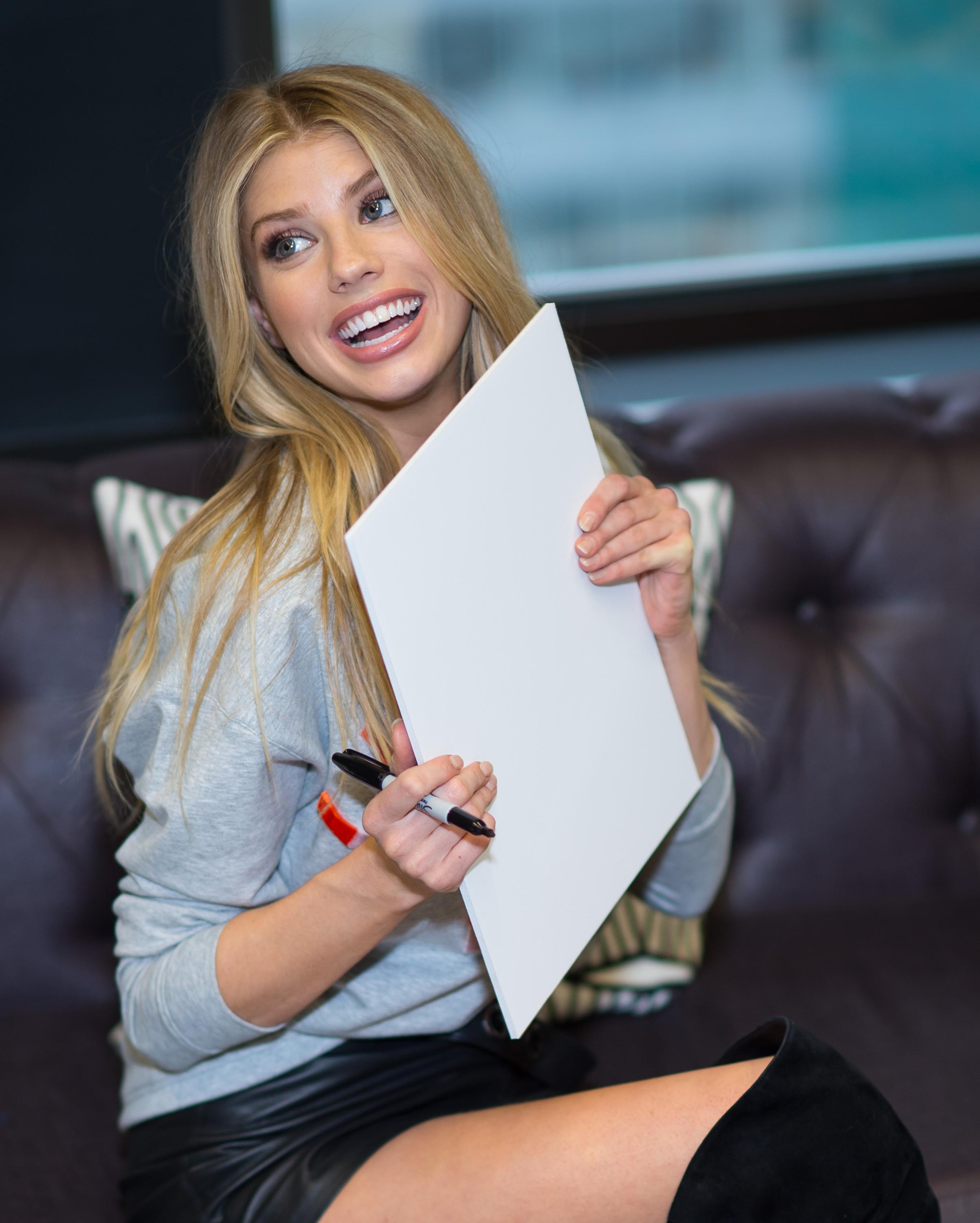 Charlotte McKinney at the Guess Clothing Office
