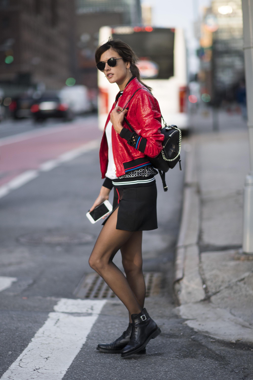 Alessandra Ambrosio street style in NYC