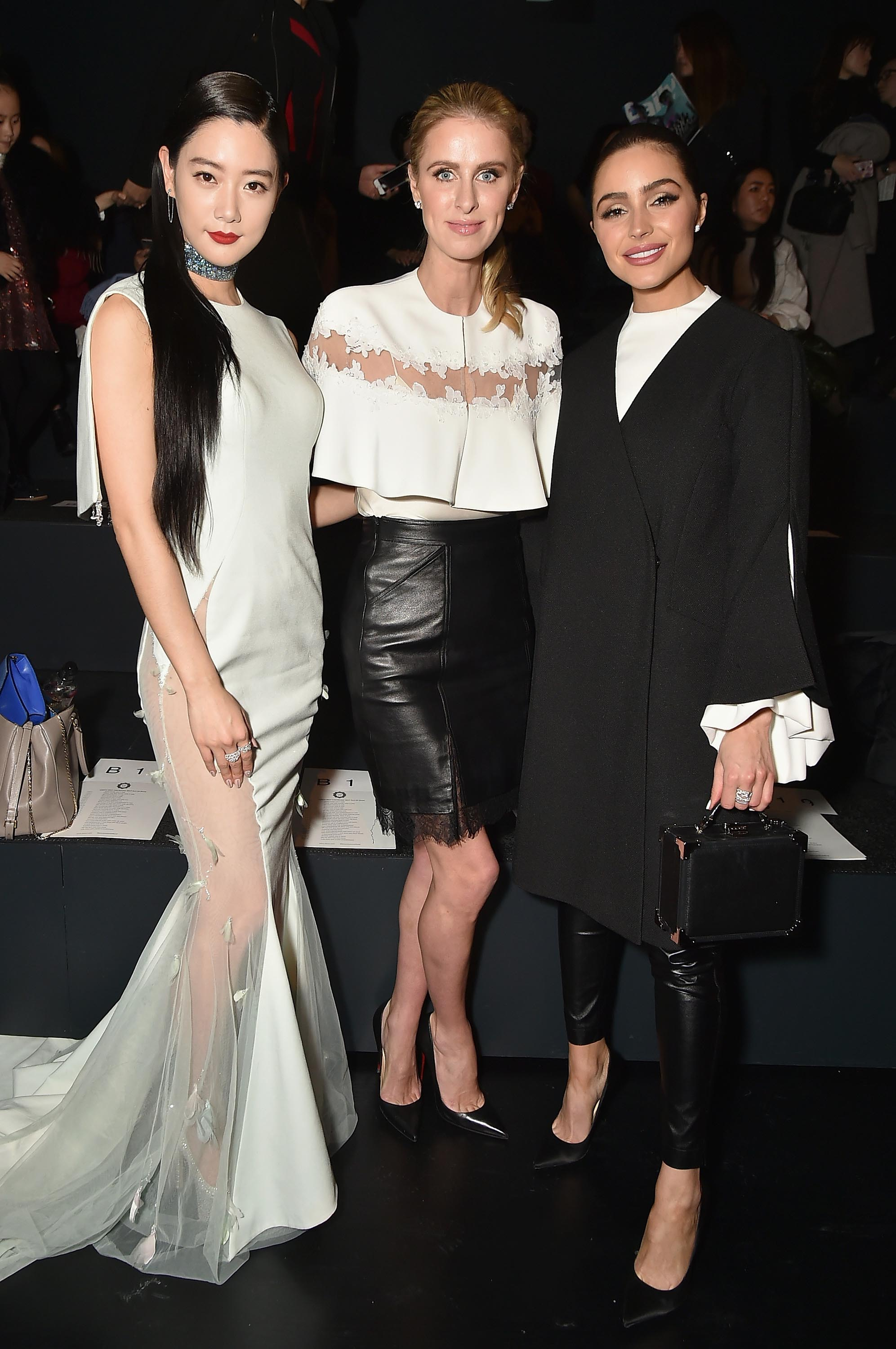 Olivia Culpo attends the Lanyu collection Front Row