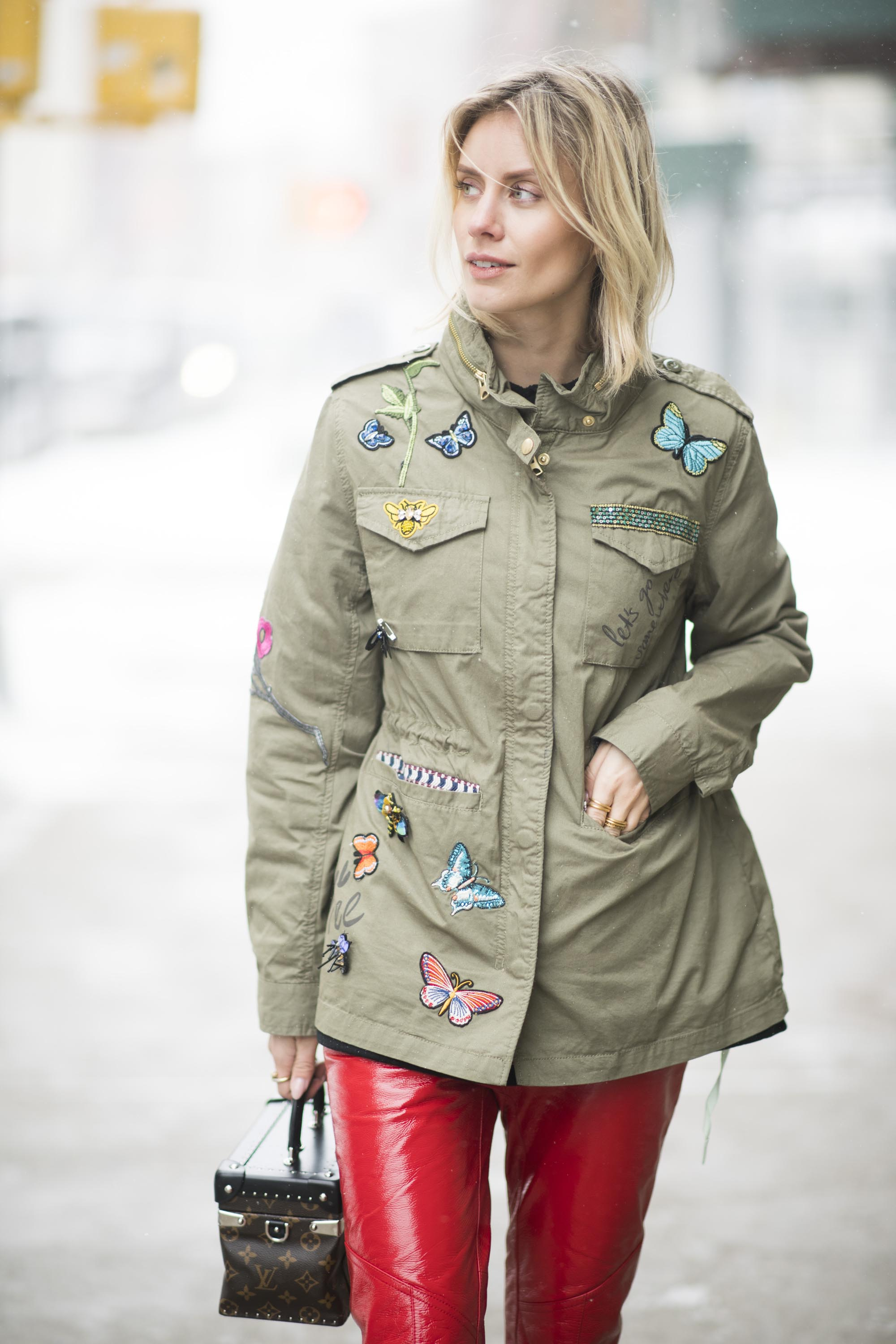 Lisa Hahnbueck street style in NYC #1