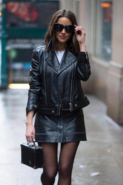 Olivia Culpo street style in NYC