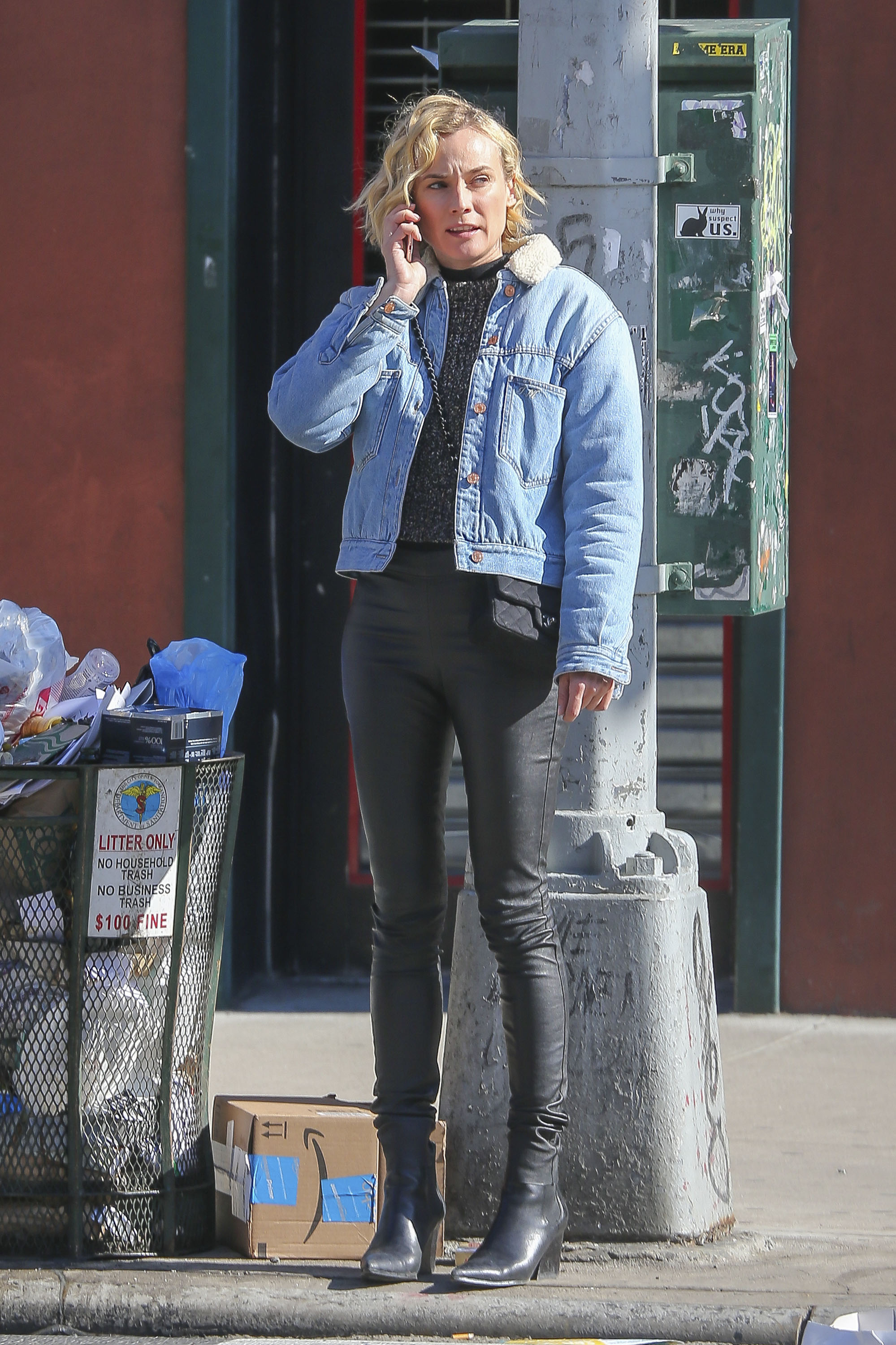 Diane Kruger spotted out in NYC