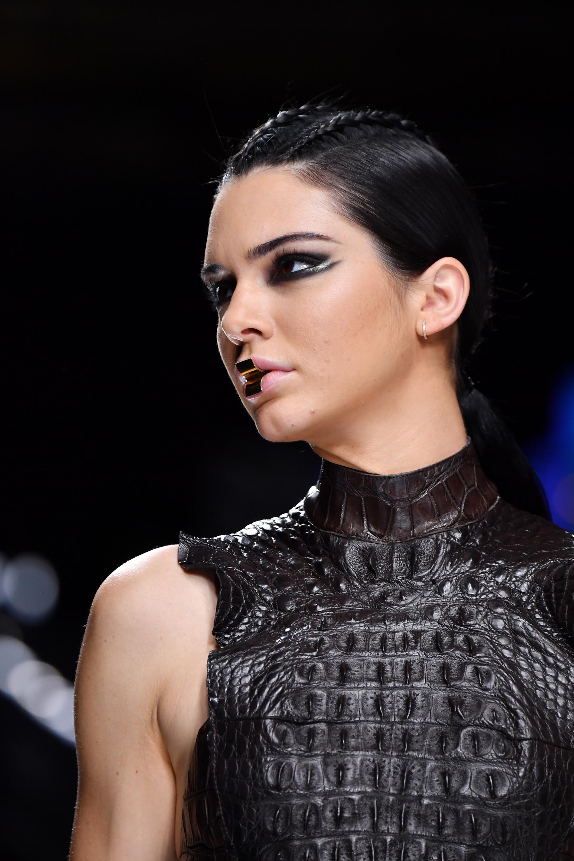 Kendall Jenner attends Balmain show Autumn Winter 2017
