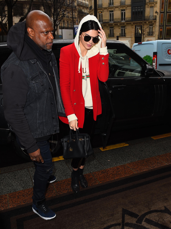 Kendall Jenner leaves her hotel