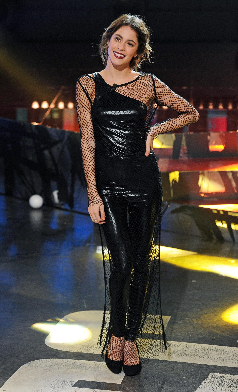 Martina Stoessel attends Italian TV talk show