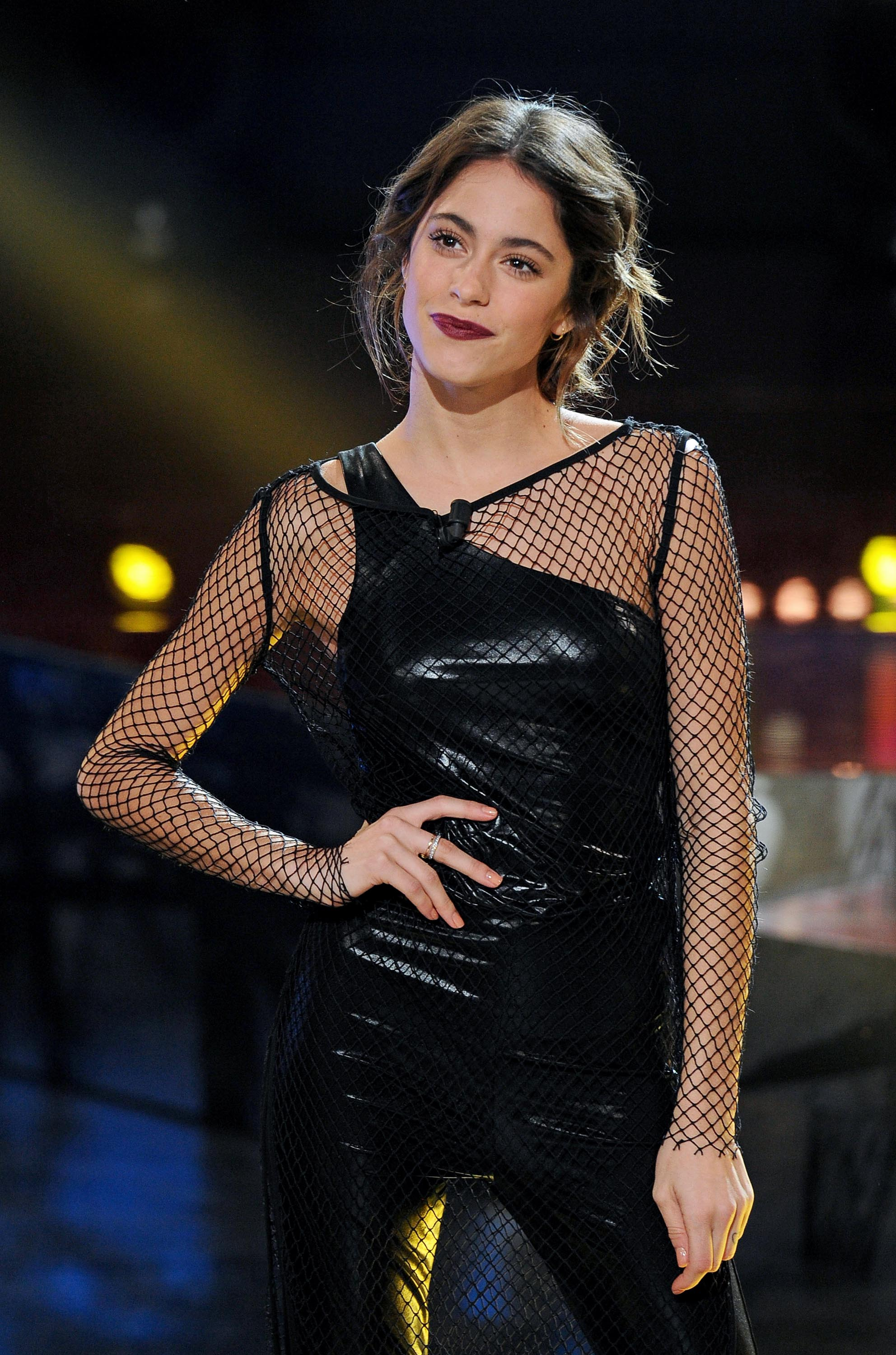 Martina Stoessel attends Italian TV talk show