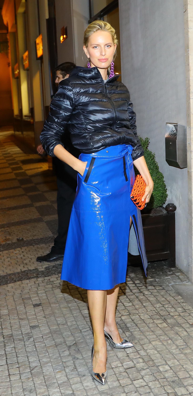 Karolina Kurkova attends Prague Fashion Week